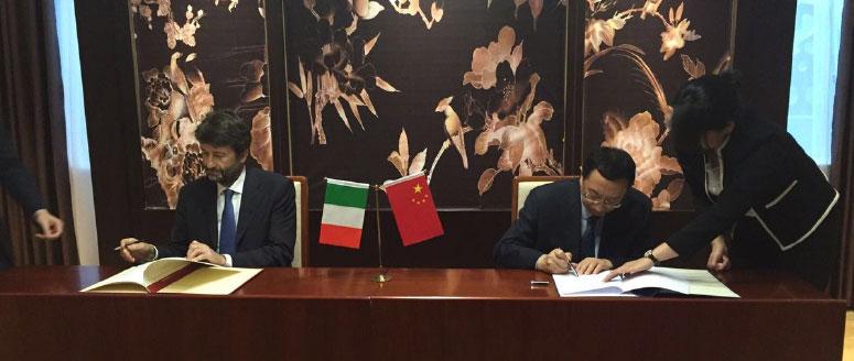 Il Ministro Dario Franceschini a Pechino