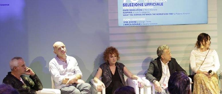 Lucia Borgonzoni durante l'evento Medicinema