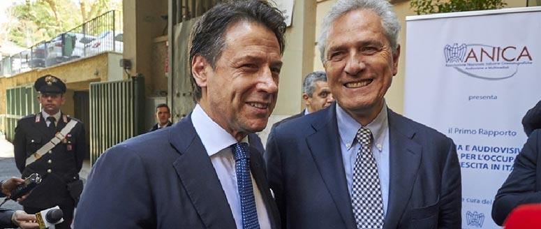 In foto, Conte e Rutelli