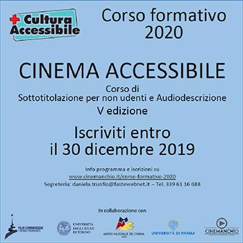 Corso formativo 2020 - Cinema Accessibile