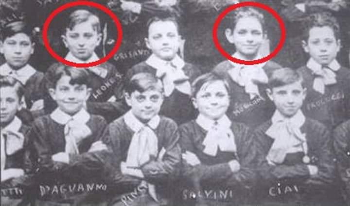 In foto Ennio Morricone e Sergio Leone in terza elementare